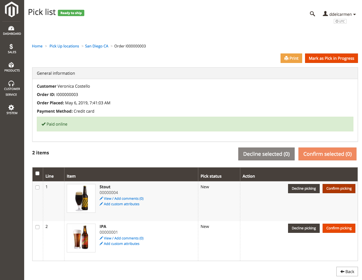 In-store pickup | Magento Order Management Documentation