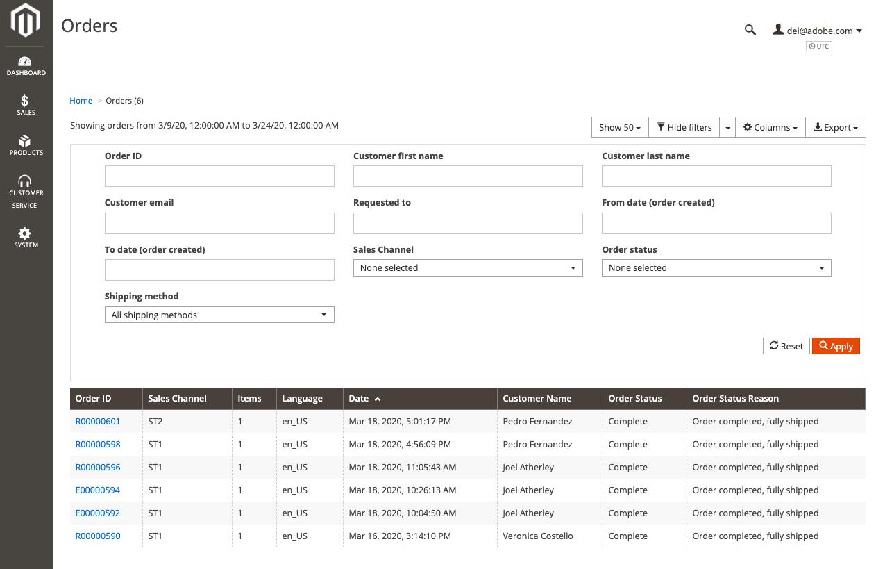 Orders | Magento Order Management Documentation